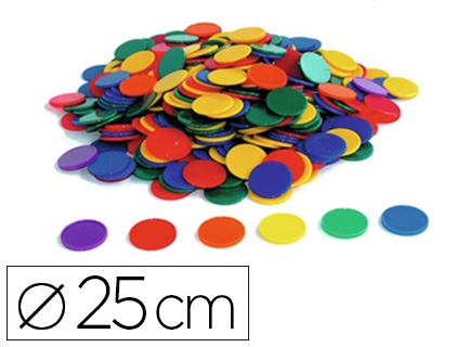 JETON DE TRI OZ INTERNATIONAL DIAMÈTRE 25MM 6 COLORIS ASSORTIS OPAQUES LOT 500 UNITÉS