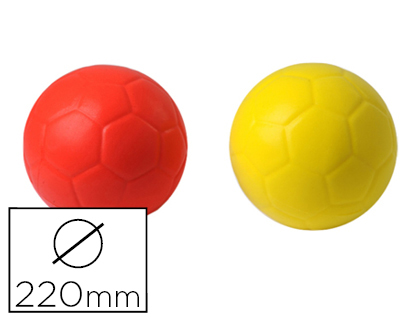 BALLON DE FOOTBALL PLASTICO ROTOTECH SOFT EN MOUSSE DIAMÈTRE 220MM 180G